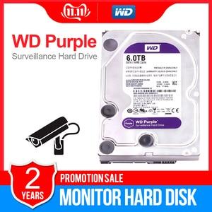 Жесткий диск WD фиолетового цвета для наблюдения, 6 ТБ, 3,5 дюйма, SATA 6,0, Interal HDD для камер видеонаблюдения, AHD, DVR, IP, NVR, WD60EJRX