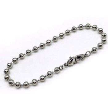 Pulsera de bola Simple de acero inoxidable para mujer, pulsera dulce a la moda, versión coreana de joyería de mujer, pulsera de regalo a la moda