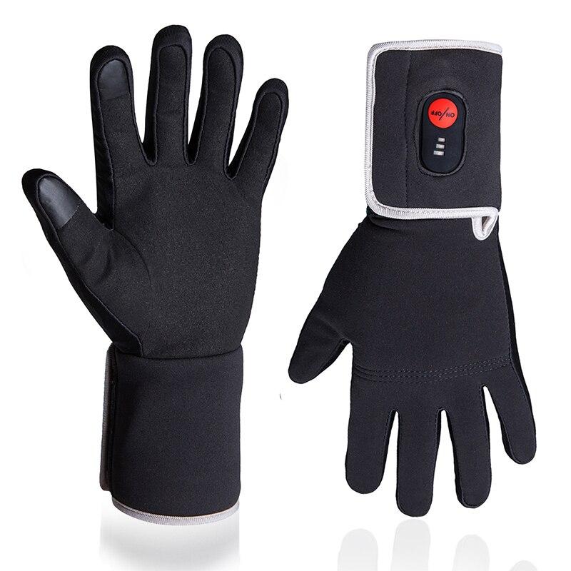 Velours doux imperméable gants chauffants hiver ski Snowboard cyclisme moto main plus chaude écran tactile gants pour hommes femmes - 5