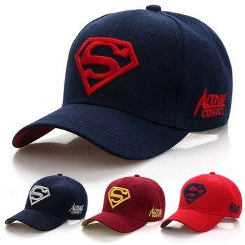 2020 New Letter Superman Cap Casual Outdoor Baseball Caps For Men Hats Women Snapback Adult Sun Hat Gorras wholesale - discount item  35% OFF Hats & Caps