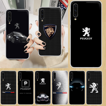 Car Peugeots logo Phone Case hull For SamSung Galaxy note A 5 7 8 9 20 30 40 50 51 60 70 71 80 2017 18 E transparent back luxury image