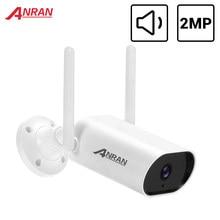 Anran 1080p câmera ip inteligente ao ar livre wi-fi câmera de segurança 2mp câmera de vigilância à prova dwaterproof água visão noturna app controle áudio