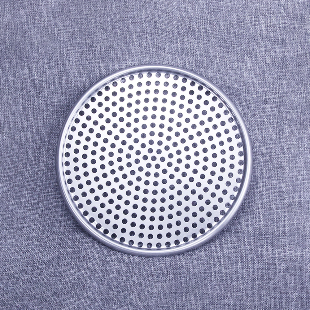 Home Plate Pizza Pan Accessories Perforated Nonstick Tray Baking Kitchen Tools Mold Even Heating Bakeware Hole Aluminum Round