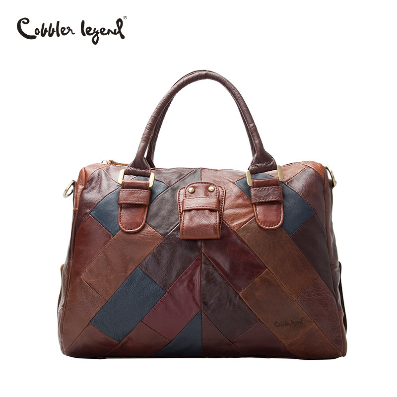 Cobbler Legend Famous Brands Luxury Genuine Leather Handbags Female Bags for Women 2018 Designer Patchwork Shoulder Bags Large