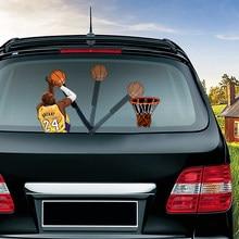 Koszykarz Kobe strzelać kosz wycieraczki samochodowe naklejki naklejki akcesoria samochodowe dla tylna szyba samochodu okno macha wycieraczki naklejki