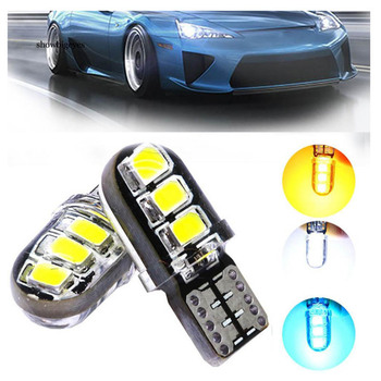 2pcs LED W5W T10 194 168 W5W LED 6SMD Led Parking Bulb Auto Wedge Clearance Lamp Reading Light CANBUS Silica gel LED Car Light image