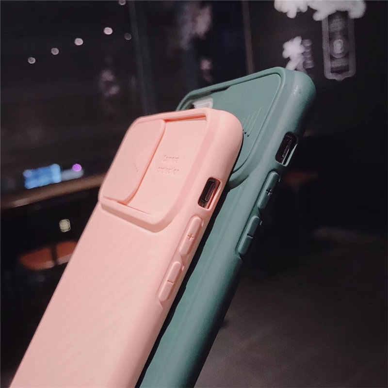 Lovebay カメラ保護耐震電話ケース iphone 11 Pro X XR XS 最大 7 8 プラスソリッドカラーのソフト TPU シリコンバックカバーケース