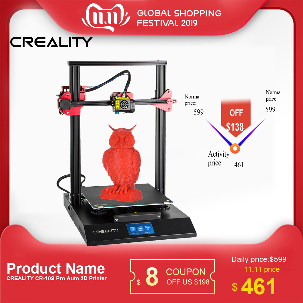<font><b>3D</b></font> Drucker CREALITY CR-10S Pro Verbesserte Auto Nivellierung DIY Selbst-montage Kit <font><b>300*300</b></font>*400mm Große druck Größe LCD Touchscreen image