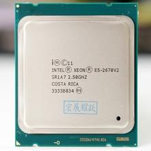インテル xeon serv プロセッサ E5 2670 V2 E5 2670 V2 cpu 2.5 lga 2011 SR1A7 テンコアデスクトッププロセッサ e5 2670V2 100% 通常の作業