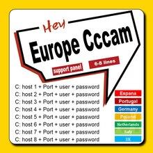 Nuevo Servidor estable de Europa Cccam para 1 año de Portugal Alemania cccam cline España para DVB-S2 receptor de TV satelital HD GTmedia V8 Nova
