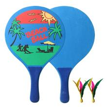 Badminton-Racket Paddles Tennis-Ball Cricket-Shoot Beach Home Popula Fitness-Set Wood-Board