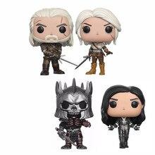 Geralt & ciri & eredin 10cm vinil figura de ação coleção modelo brinquedos