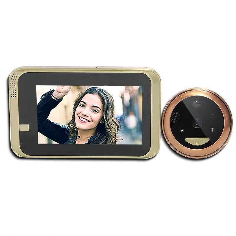 Wireless Peephole Intercom DoorBell Infrared Night Security Camera HD Support Phone Remote Apartment Security Viewer Doorbell