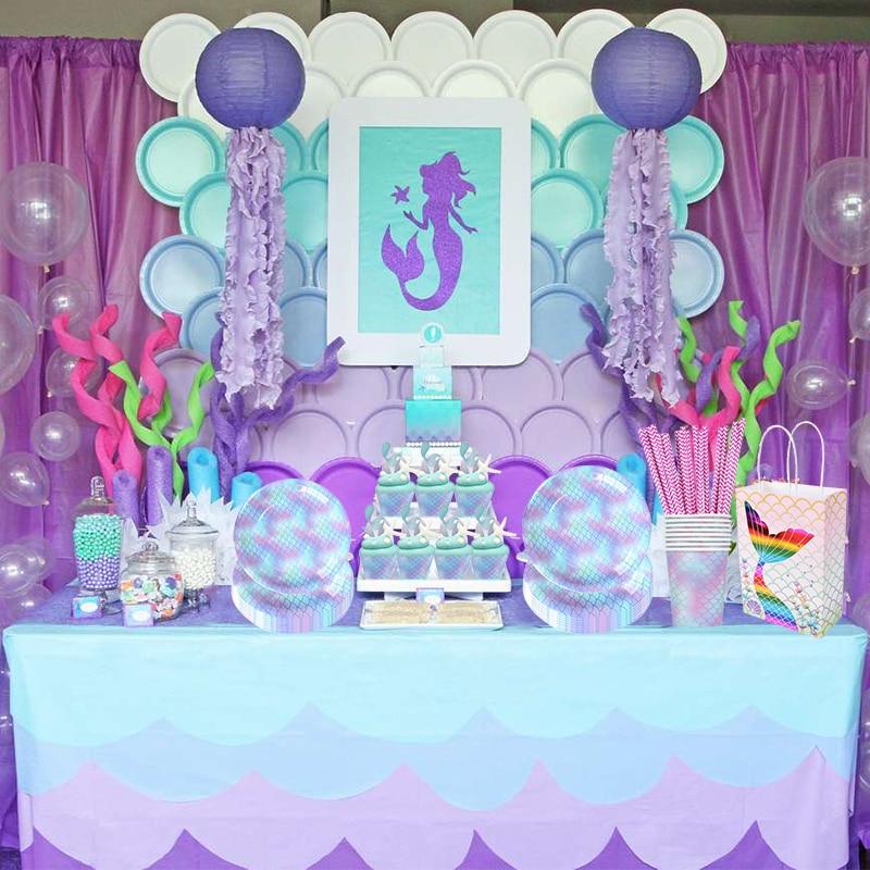 MEIDDING одноразовый набор посуды для девочек на день рождения, вечерние тарелки с воздушными шарами, баннер для свадебного оформления, детский...