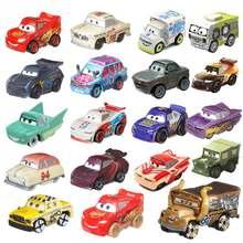Миниатюрные игрушечные машинки Disney Pixar, Молния Маккуин, игрушечная машинка из сплава, полицейская машинка, высокоскоростная маленькая Спор...