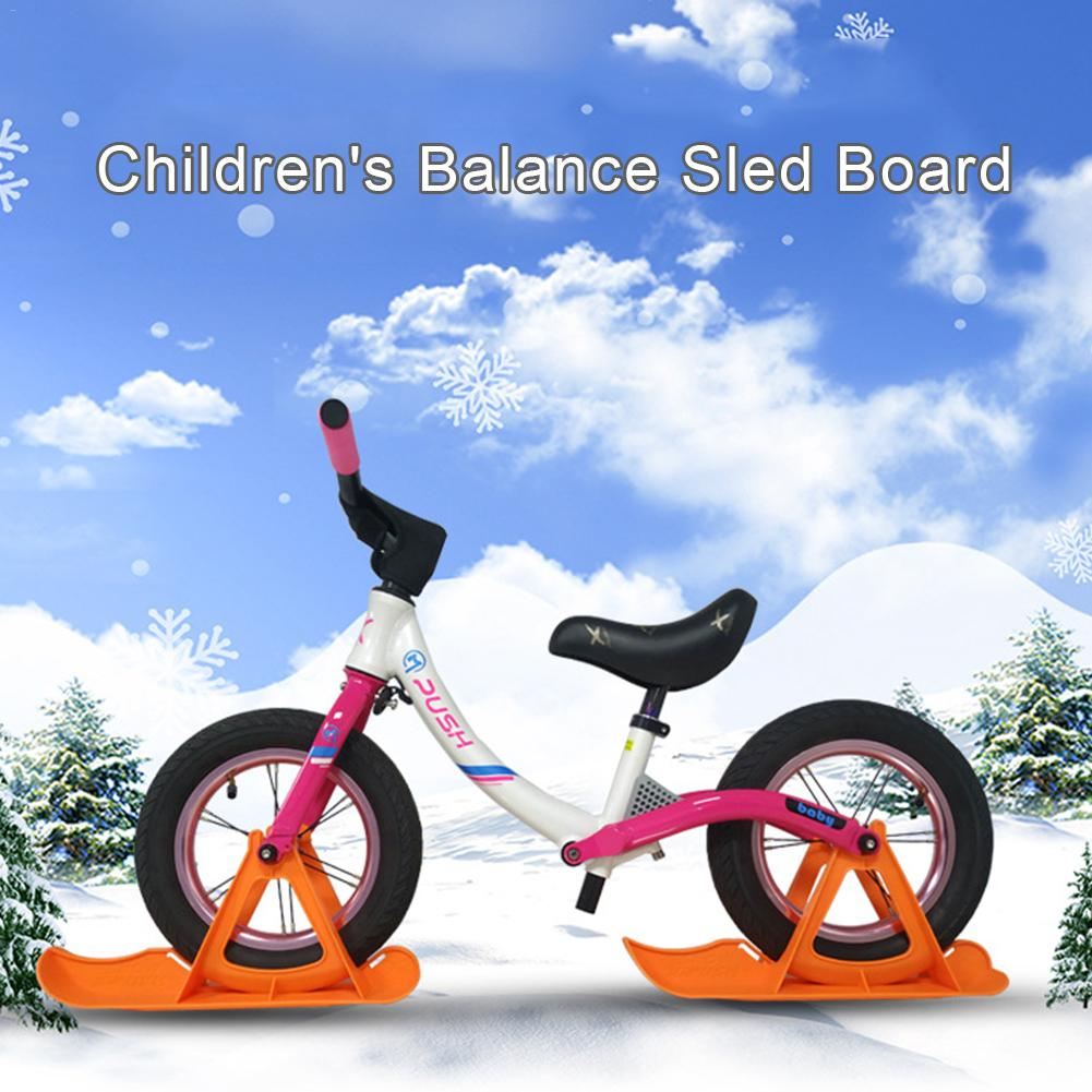 Universal Sled Ski Board Easy Install Gift Children Snowboard Scooter Parts Durable Balance Car Outdoor Toddler Replacement