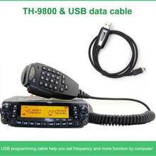 Navio de moscou! Tyt TH-9800 transceptor 50w 809ch quad band dupla exibição repetidor scrambler vhf uhf rádio do carro móvel th9800