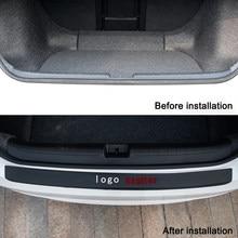 Leather Car Rear Bumper Stickers Trunk Guard Plate Molding for VW Sagitar mk6 emblem 2021 VW Modification Accessories