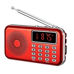 Digital Radio AM FM Bluetooth Speaker Stereo MP3 Player TF/SD Card USB Drive Handsfree 2 Inch Screen LED Display Speaker