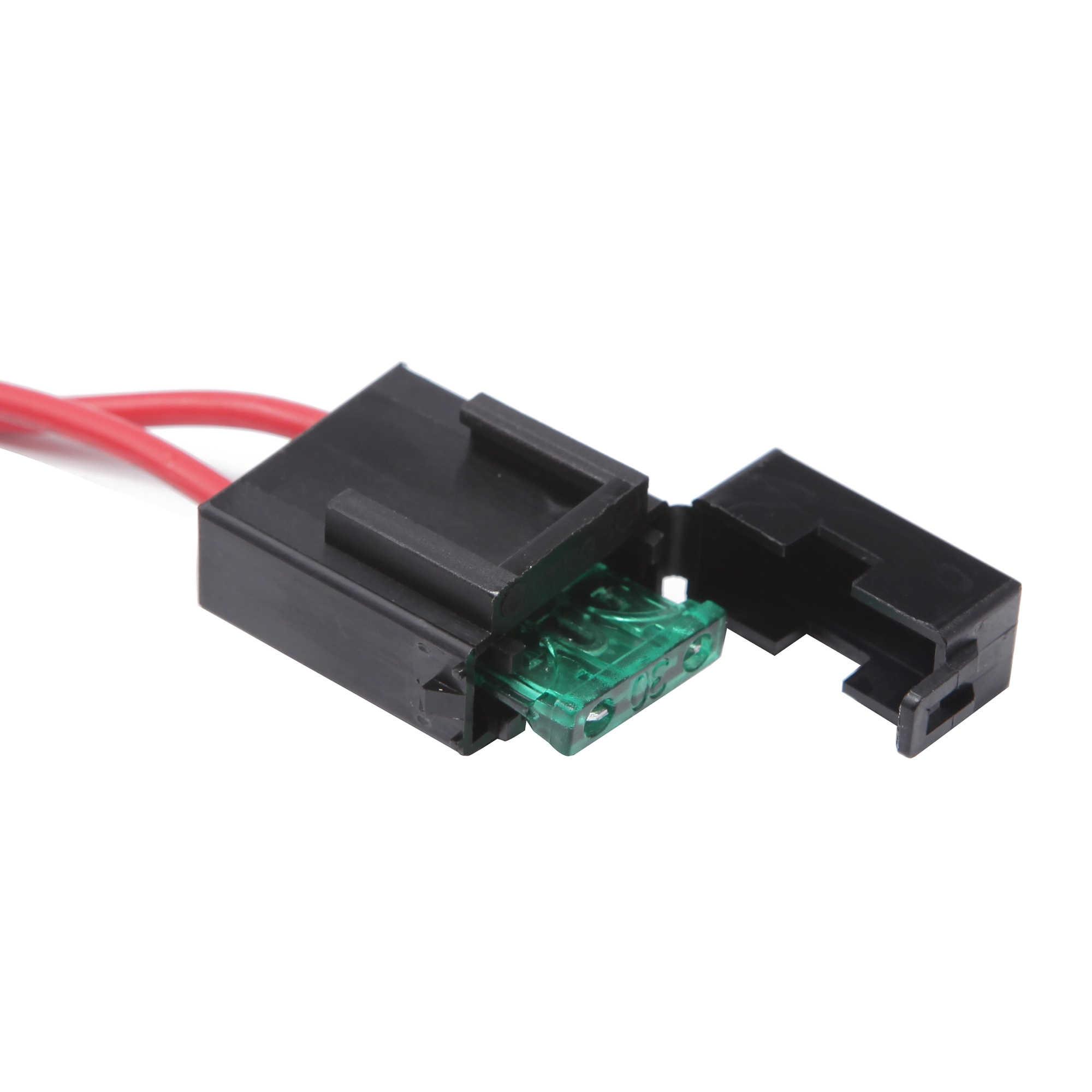 Ecahayaku 2 Meter Auto Led Licht Bar Draad Kabelboom Relais Loom Cable Kit Zekering Voor Auto Rijden Offroad Led werklamp 12 V 24