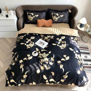 Svetanya Silkly Egyptian Cotton Bedding Set  Printed Flat Fitted Sheet Pillowcase Duvet Cover Sets Linens
