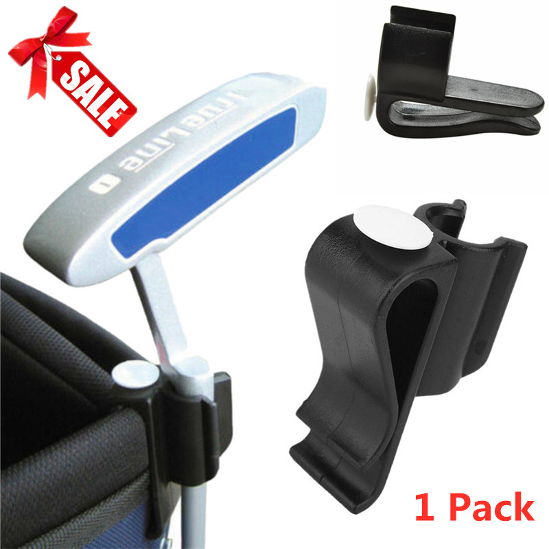 Putting Holder Golf Putter Clip On Rod Bag Clamp Organizer Outdoor Black Plastic Durable Training Aids 1 Pc Golf Accessories