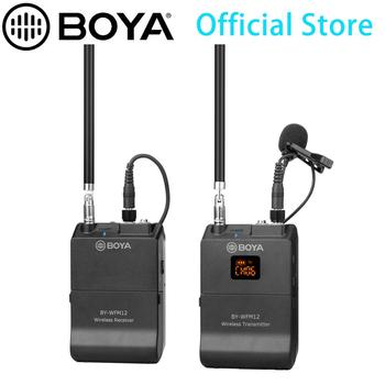 BOYA BY-WFM12 VHF Wireless Microphone System for IOS Android Smartphones, Video DSLRs, Camcorders, Audio recorders, PCs Youtube
