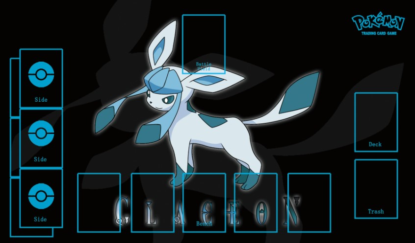 Takara Tomy PTCG Accessories Pokemon Playmat Table Card Game Glaceon Eevee Toys For Children