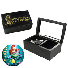 Handmade Wooden The Little Mermaid Music Box Birthday Gift For Christmas Birthday Valentine's day special gifts for childrens(China)