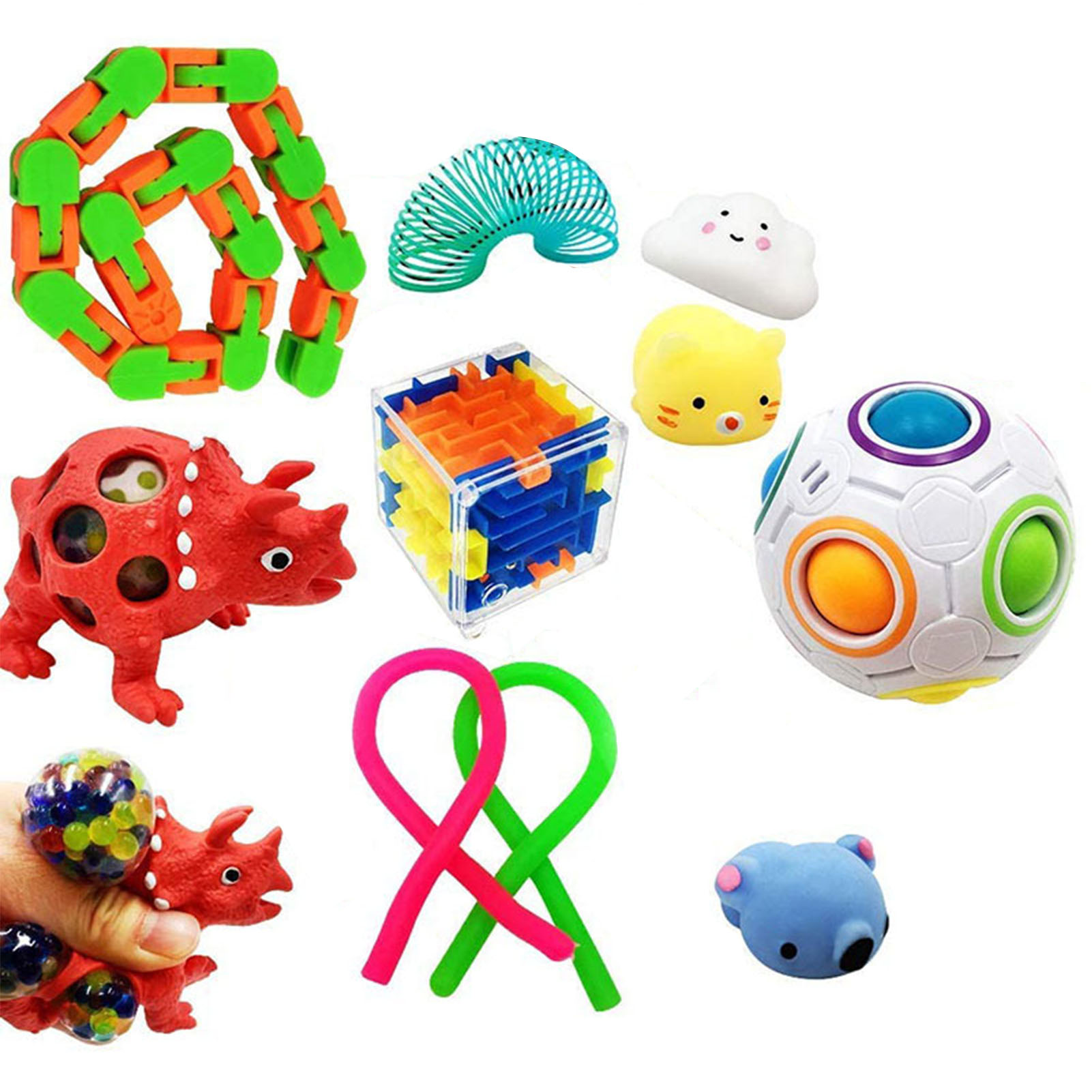 Fidget Sensory Toys Set Anti Stress Marble Ball Autism Anxiety Relief Stress Squeeze img3