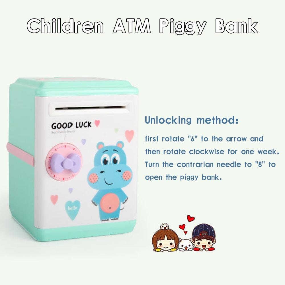 Innovative ATM Piggy Bank Intelligent Automatic Opening Password Vouchers New Exotic Gift Toys For Children