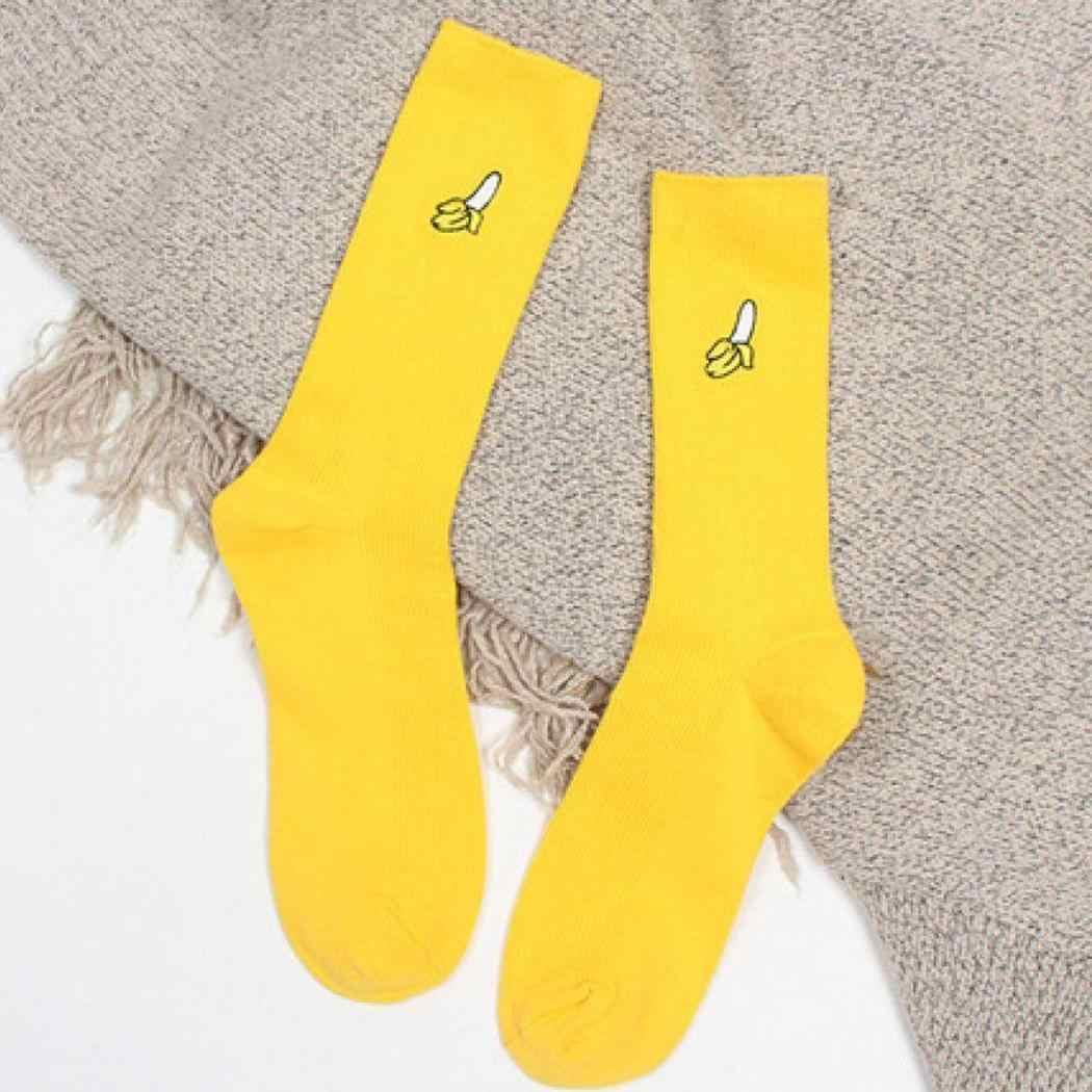 Kadınlar rahat yumuşak deodorantı nefes baskı standart orta tüp pembe, yeşil, sarı, kırmızı çorap