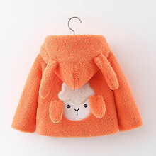 Baby girl Winter Jacket Cute Children Kids Cartoon Sheep Hoo