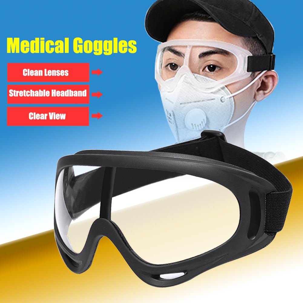 Safety Glasses Transparent Dust-Proof Anti-fog Glasses Splash-proof Working Glasses Protective Anti-wind Disposable Goggles