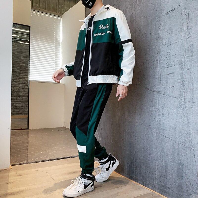 Fashion Jacket+Pants 2 Piece Set Spring Tracksuit For Men 2020 Hoodies Mens Ropa Deportiva Hombre Moda Jogginganzug Herren