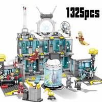 Marvel Avengers 4 Iron Man Base 76107 76108 76123 76125 76126 76131 Block Set Compatible Legoinglys Building Brick Toy Kids
