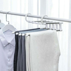 Pants Hanger Scarf Hanger Hanger Retractable Clothes Plastic Rack Adults Space Saver Adjustable ABS Stainless Steel Closet