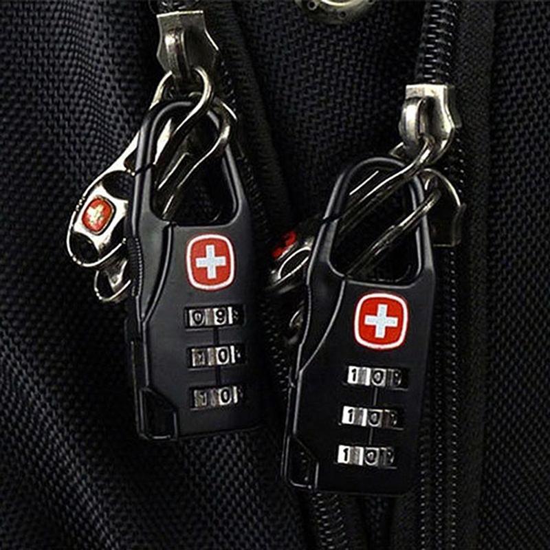 Liga portátil mini cadeado de bloqueio de viagem ao ar livre bagagem zíper mochila bolsa seguro anti-roubo combinação código número bloqueio