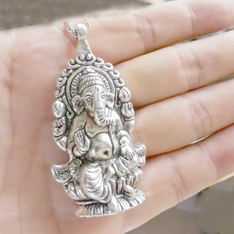 גנש שרשרת שרשרת גדול תליון ההינדית פיל אלוהים חדש גאנש דת תכשיטי מתנה