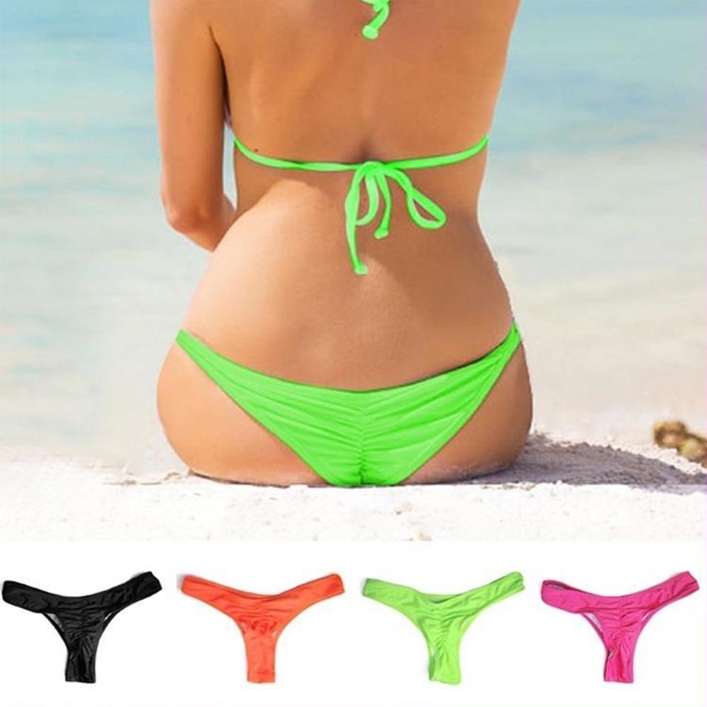 Нов секси бразилски мини ремък V форма G-струна бикини плаж бельо бански 5 цвята ремък за избор