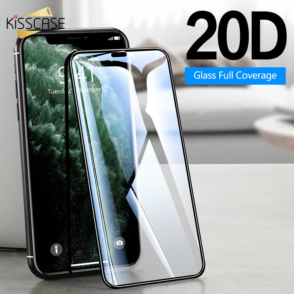 KISSCASE 20D Tempered Glass for iphone 11 Pro XS MAX XR 7 8 Plus Screen Protector For iPhone 6 6S 5S 11 XS Glass Protective Film