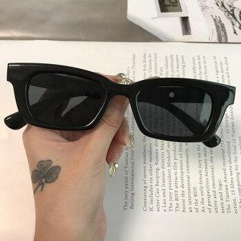 2021 New Women Rectangle Vintage Sunglasses Brand Designer Retro Points Sun Glasses Female Lady Eyeglass Cat Eye Driver Goggles - Black