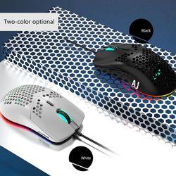 AJ390 Leggero Wired Mouse Hollow-Out Mouse da Gioco Del Mouse 6 Dpi Regolabile 7 Tasti per Finestre 2000/Xp /Vista/7/8/10 Sistemi