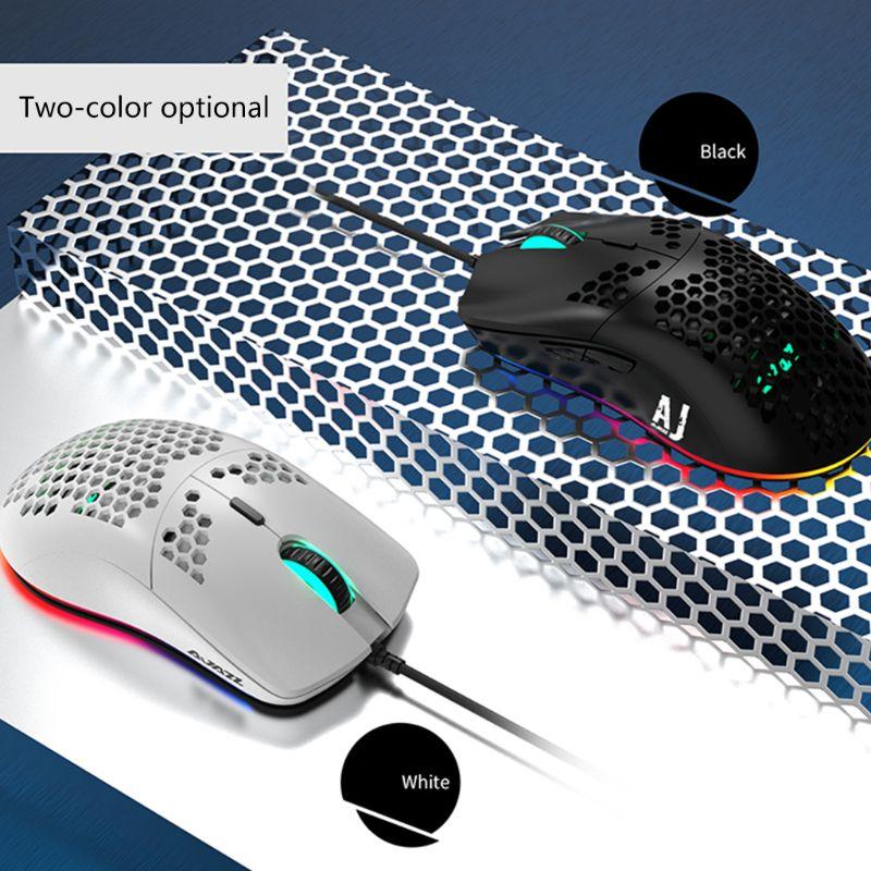 Leve com Fio Teclas para Windows Mouse Oco-para Fora Gaming 6 Dpi Ajustável 7 2000 – xp Vista 8 10 Sistemas Aj390