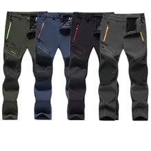 Homens inverno velo carga calças tático ao ar livre à prova dwaterproof água calças homem quente oversized plus size respirável caminhadas calças dos homens