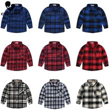 Spring Autumn 2020 New Boys Long Sleeve Classic Plaid Lapel Shirts Tops with Pocket Baby Boys Girls Casual Shirt Kids Clothing girls plaid blouse 2019 spring autumn turn down collar teenager shirts cotton shirts casual clothes child kids long sleeve 4 13t