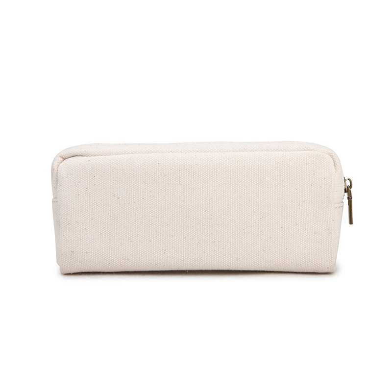 Cotton Canvas Simple Large Capacity Boy And Girl Small Fresh Pencil Case