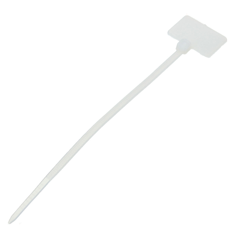 50Pcs Nylon Cable Tie Label Self-Locking Network Zipper Trim Wrap Ring Line Label