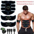 Стимулятор мышц живота ABS EMS тренажер для тела тонизирующий Фитнес USB Перезаряжаемые мышцы тонер тренировки машина Для мужчин Для женщин Для...