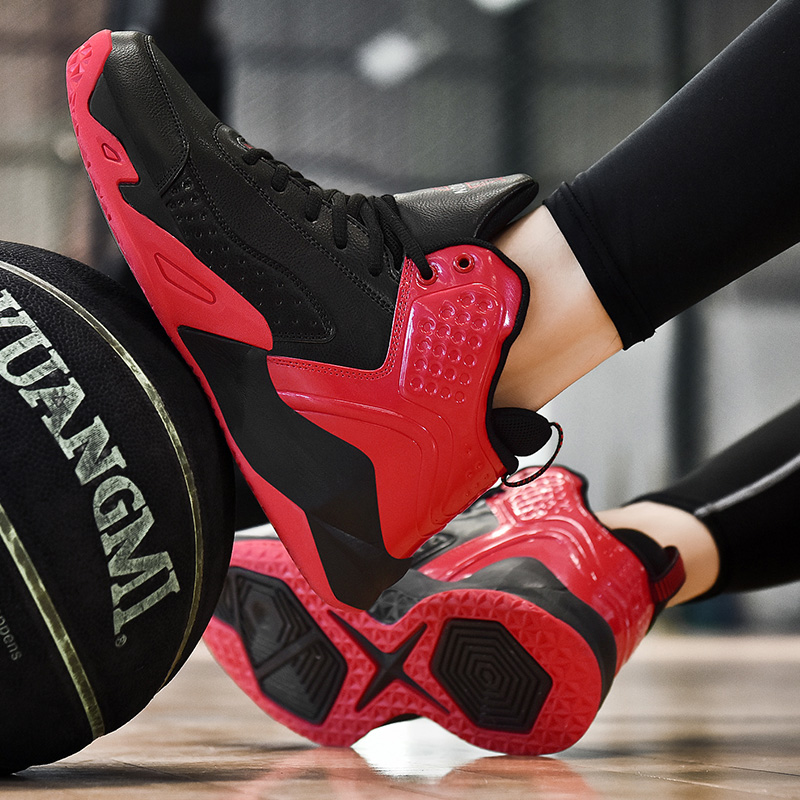 36-48 New Unisex High-top Couple Shoes Men's Basketball Female Sneakers Anti-skid Sports Big Size Trainers Male Ladies Outdoor